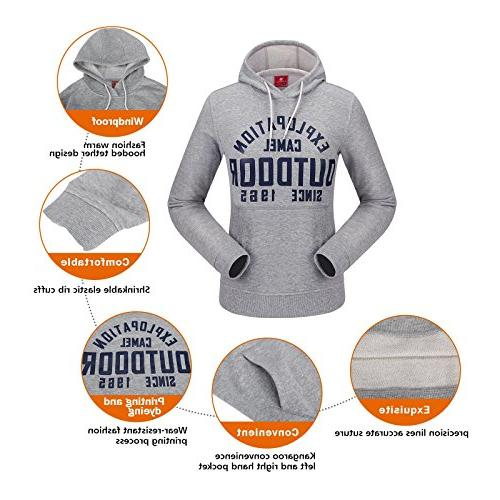 Camel Tops Hoodie Fashion Casual Sport Sweatshirt with