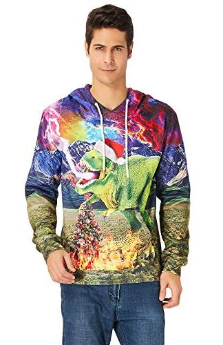 Loveternal Christmas Pullover Graphic Print for Men