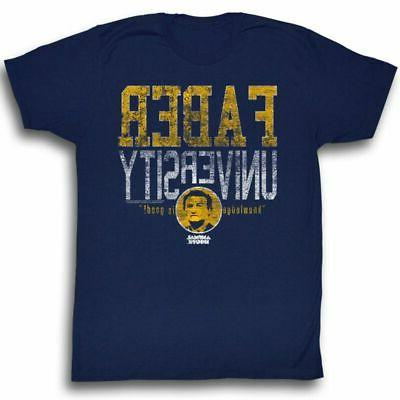animal house faber university navy adult t