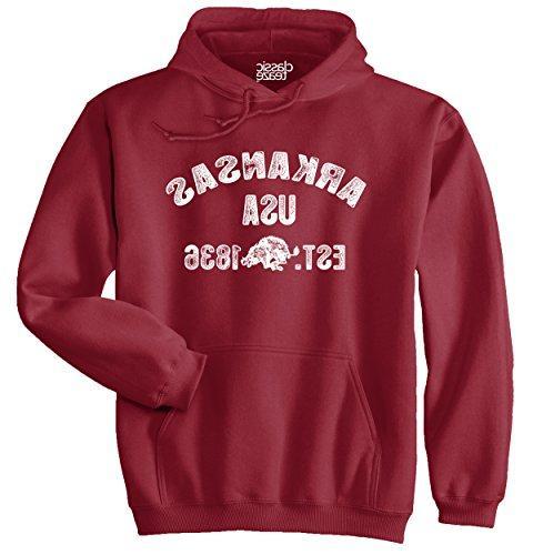 arkansas state printed adult hooded sweatshirt cardinal