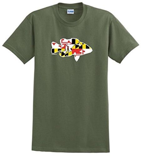 bass fishing gift maryland home state pride