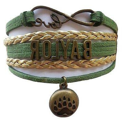 baylor university bears college infinity bracelet jewelry