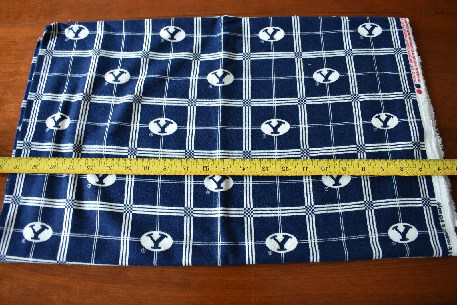 By Young University Flannel Quilt Fabric, Sykel,