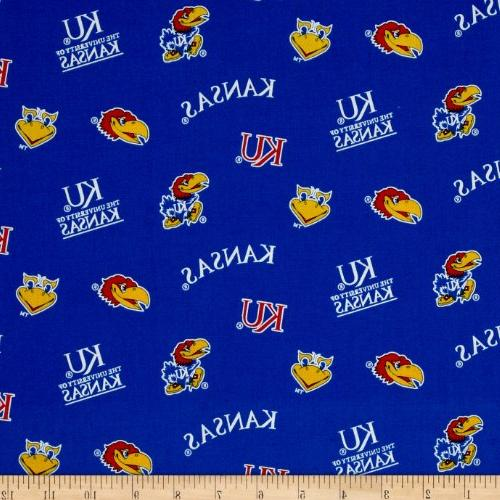 collegiate cotton broadcloth university of kansas fabric
