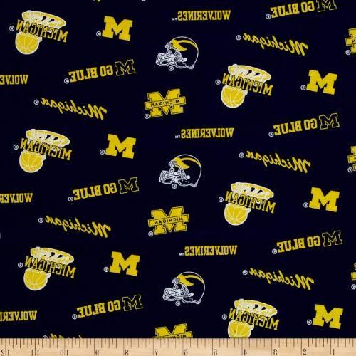 collegiate cotton broadcloth university of michigan wolverin