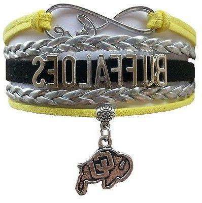 colorado university buffaloes college infinity bracelet jewe