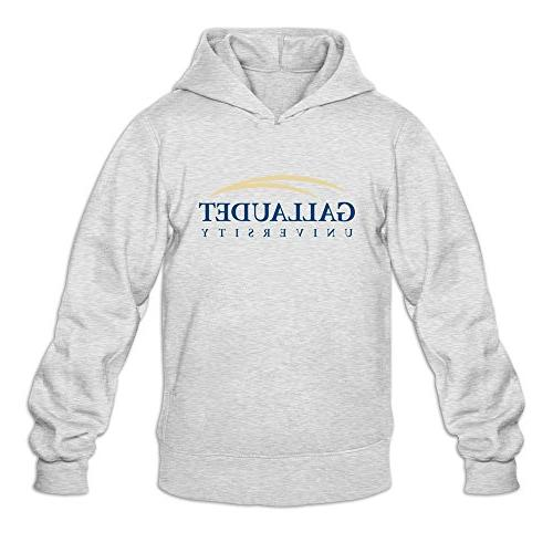 gallaudet university mens 100 percent cotton hoodies
