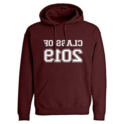 hoodie class of 2019 x large maroon