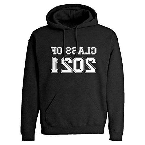 hoodie class of 2021 medium black hooded