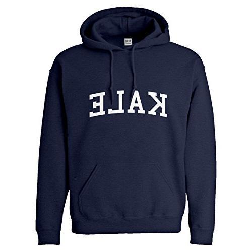 hoodie kale small navy blue hooded sweatshirt