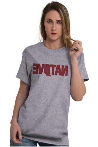 Indiana Native Pride University Sleeve T-Shirt Tees