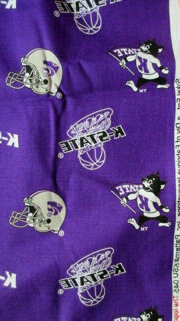 Kansas Football/Basketball Cotton Fabric Wide