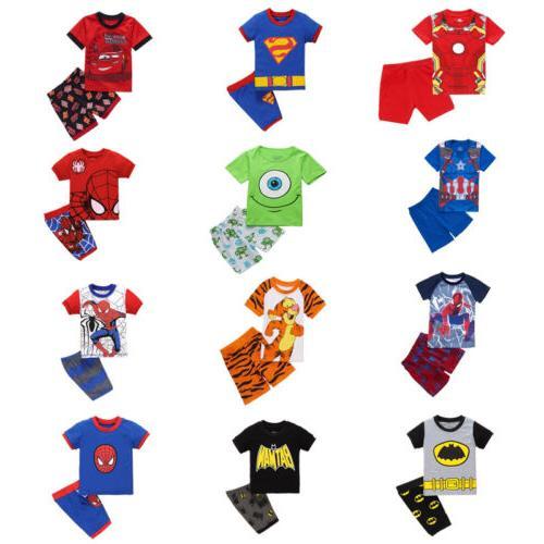Boys Pajama Outfit Set T-shirt+Pants Homewear