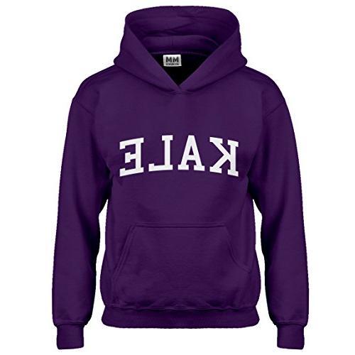 kids hoodie kale large purple hoodie