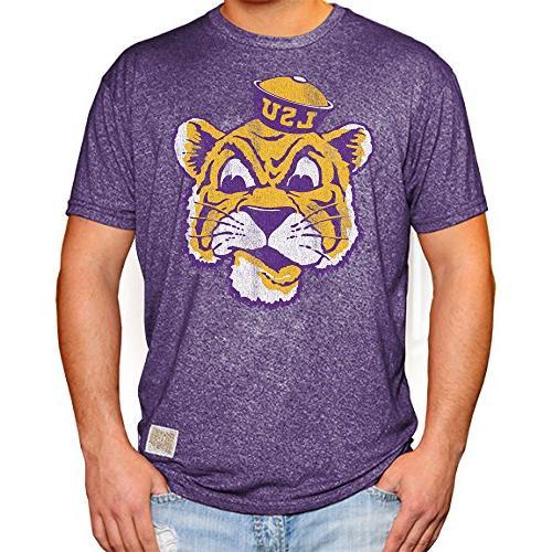 lsu tigers retro tshirt purple