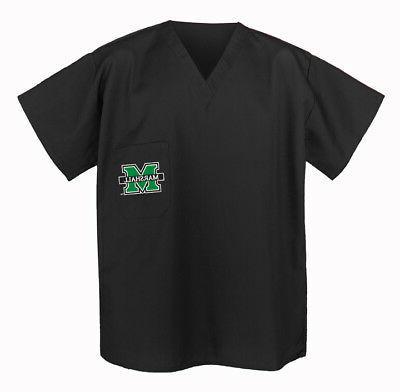marshall university scrubs tops shirts black best