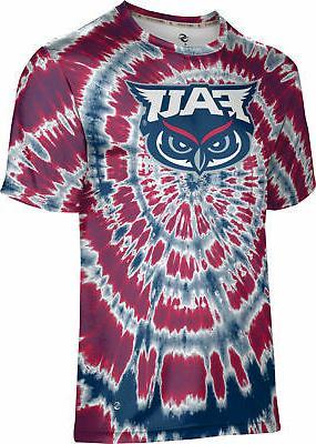 men s florida atlantic university tie dye