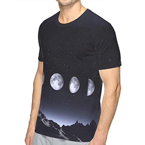 Men's of The Moon Sky Casual Neck Gift