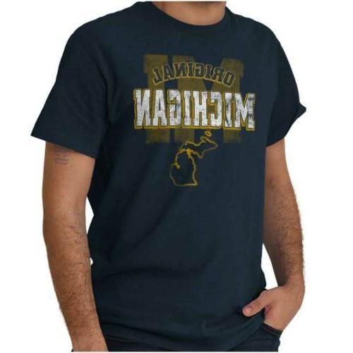 michigan student university football college short sleeve