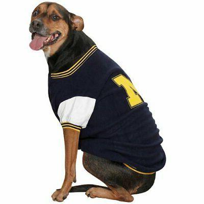 michigan varsity dog jacket ii x small