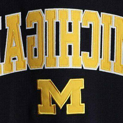 Michigan & Logo Pullover - Navy