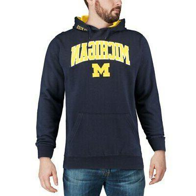 Michigan Colosseum Arch & Logo Pullover - Navy