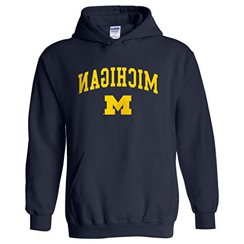 michigan wolverines arch logo hoodie 2x large