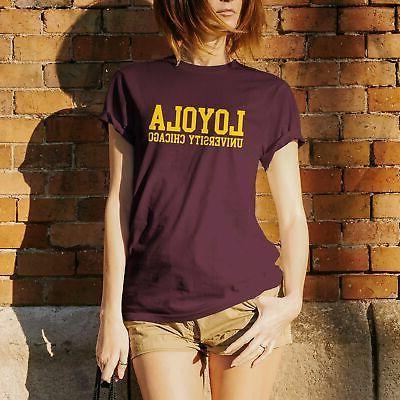 College Team Color T Shirt University NCAA Basic Block