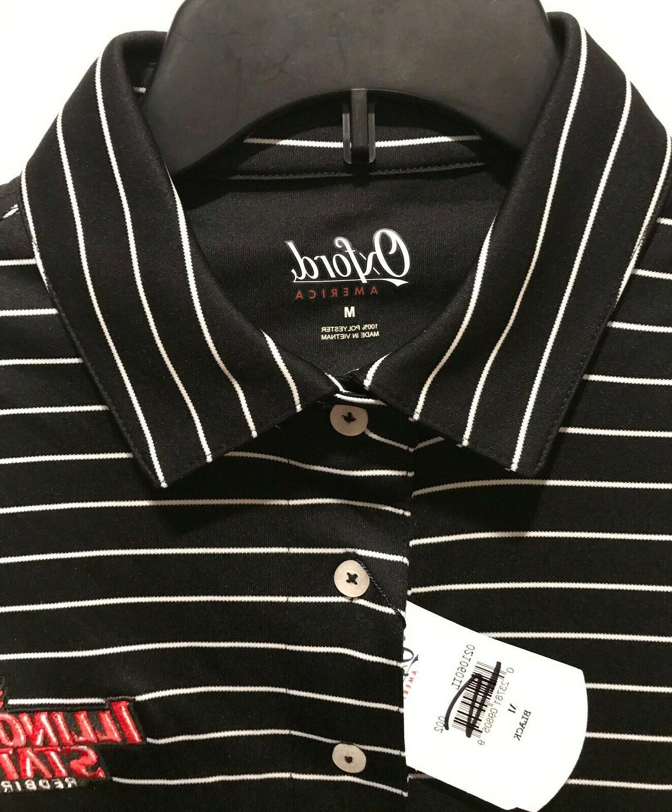 New Oxford Men's Polo Shirt Stripes Embroidered -PICK