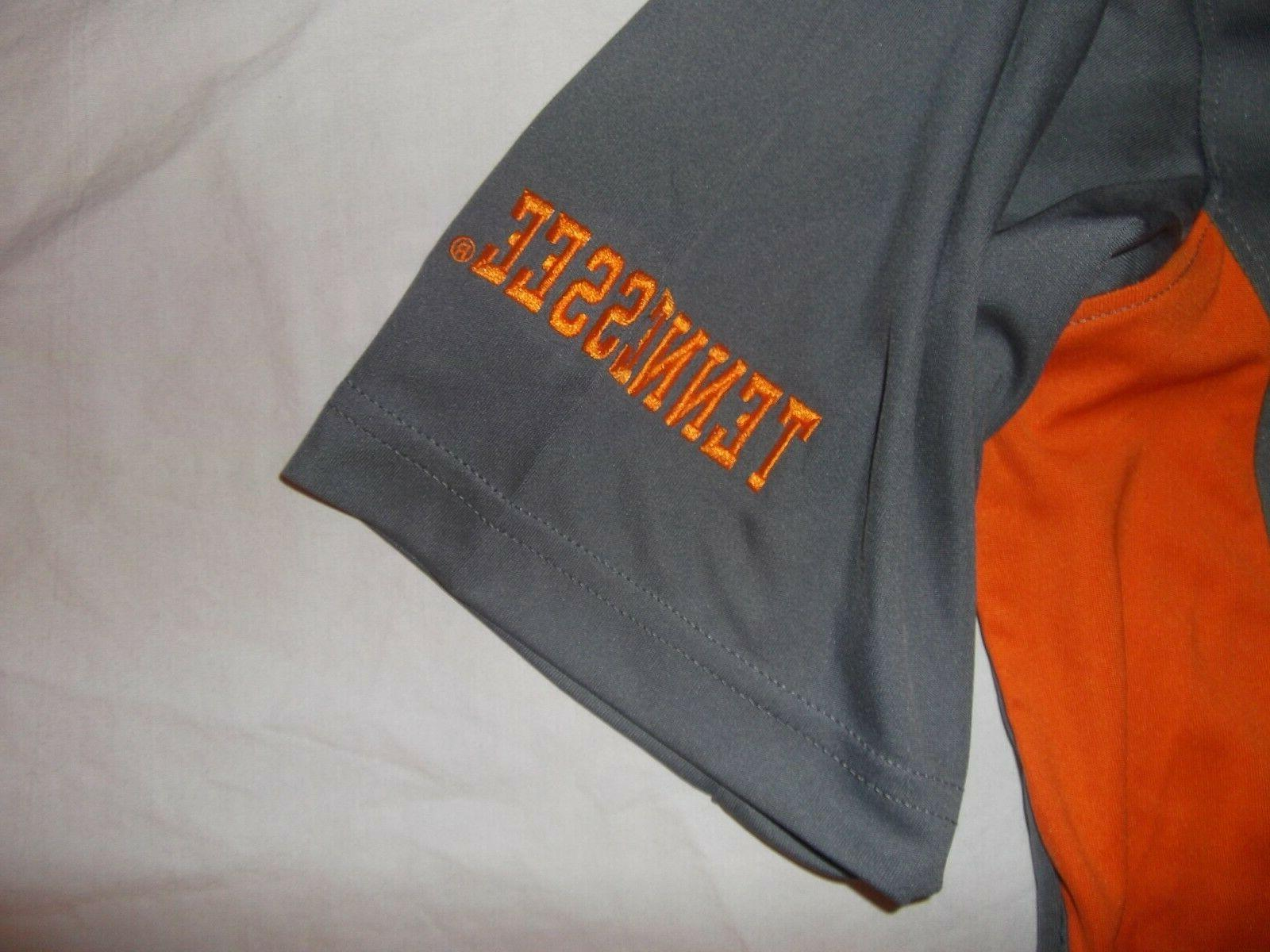New University Knights Apparel UT golf shirt Vols gray orange L