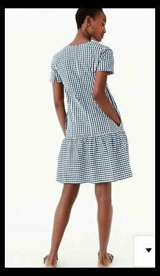 NWT Poplin Gingham Waist Dress S