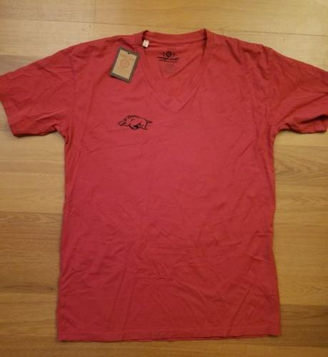 nwt womens university of arkansas razorback shirt