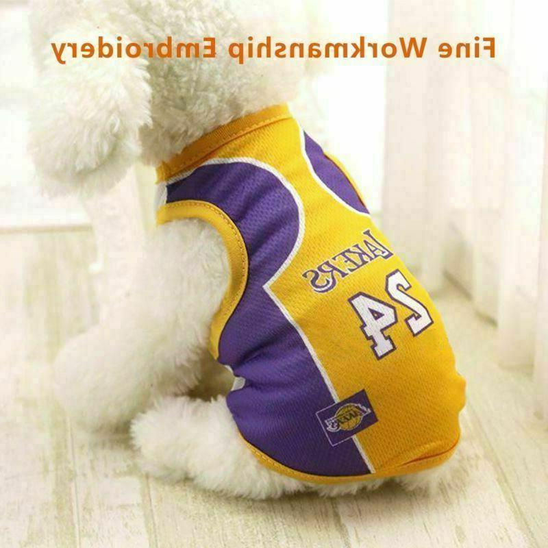 Pet Basketball Custome Vest Fan Clothing