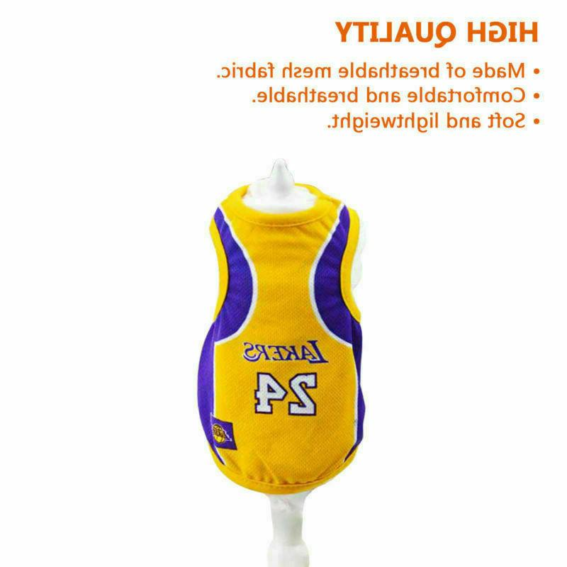 Pet Basketball Jersey Party Custome Vest Clothing