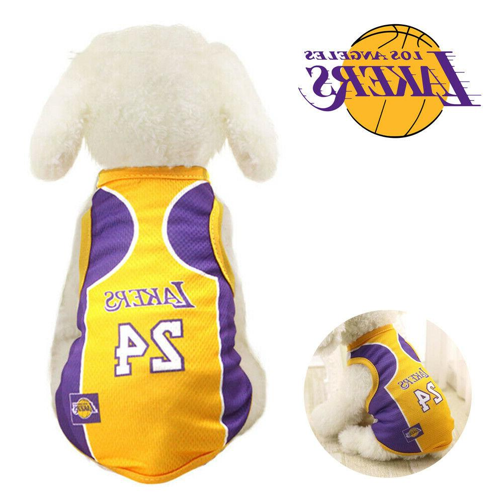 pet dog james kobe basketball jersey puppy