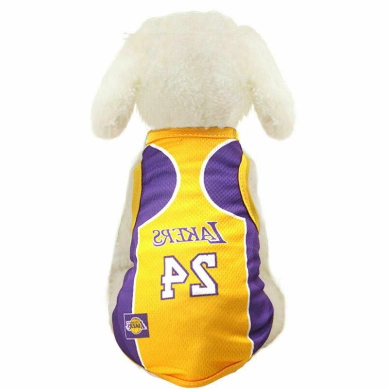 Pet Dog shirt Basketball Puppy Custome Vest Fan Clothing