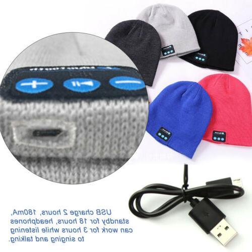 Soft Beanie Headset Speaker Wireless Bluetooth Smart