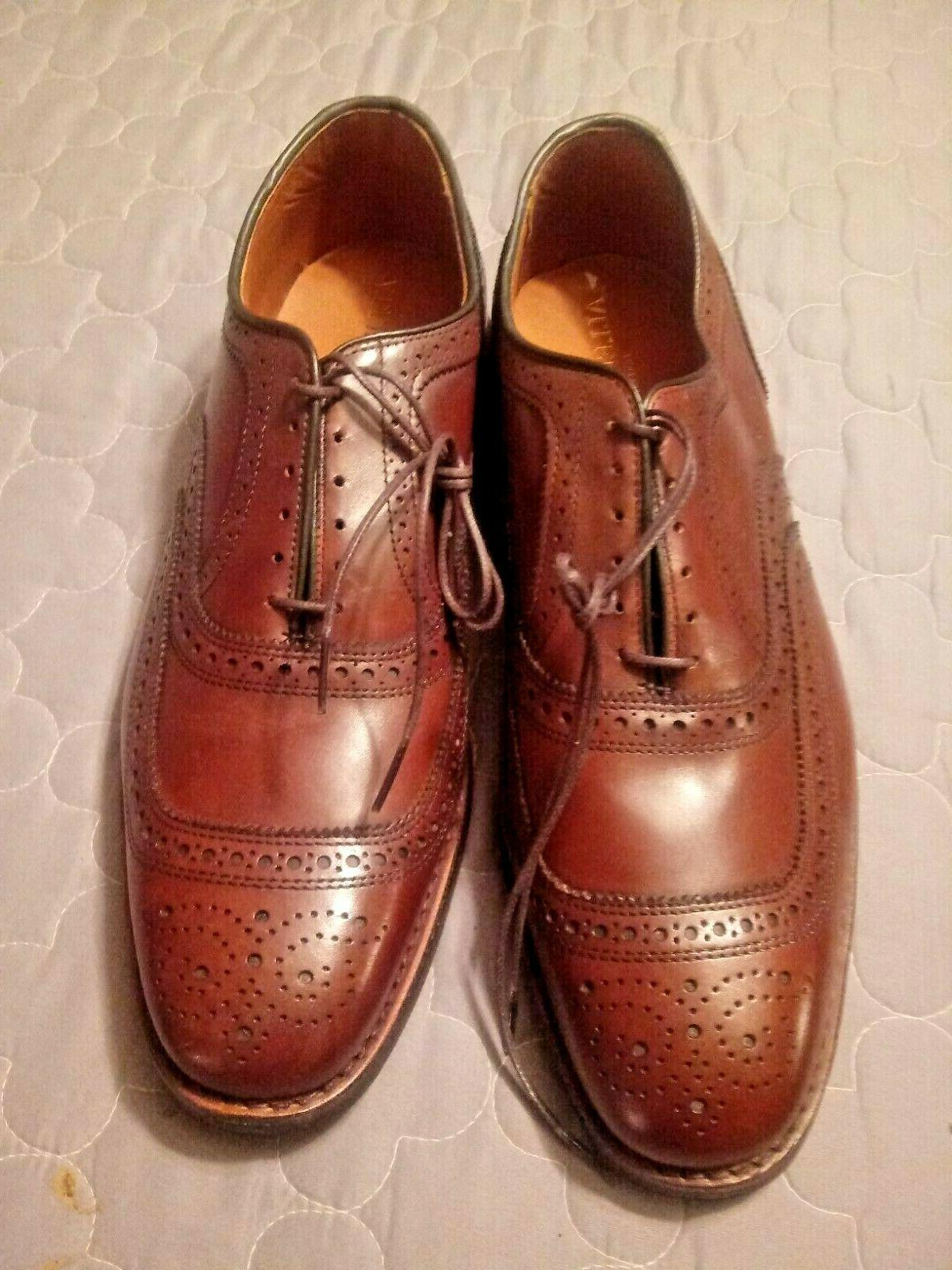 Allen University chili Dainite sole dress shoes