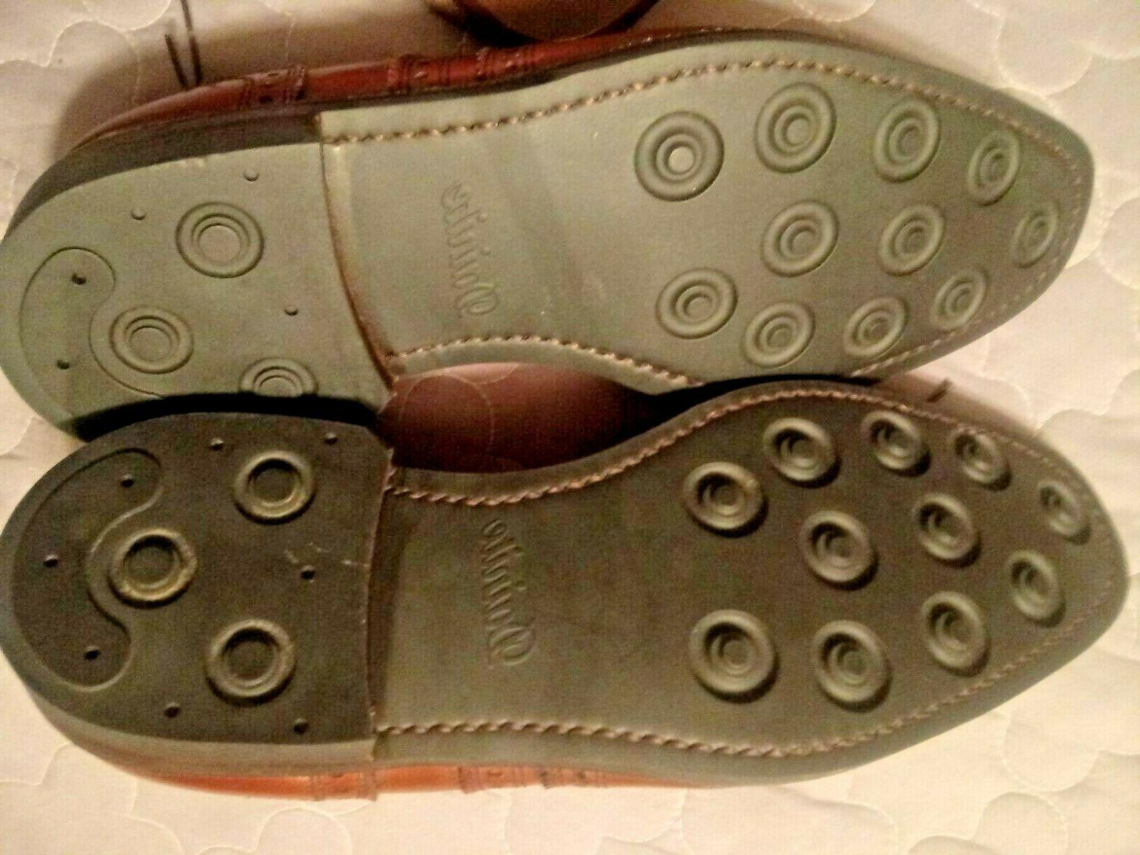 Allen University dark chili oxfords dress shoes Sz