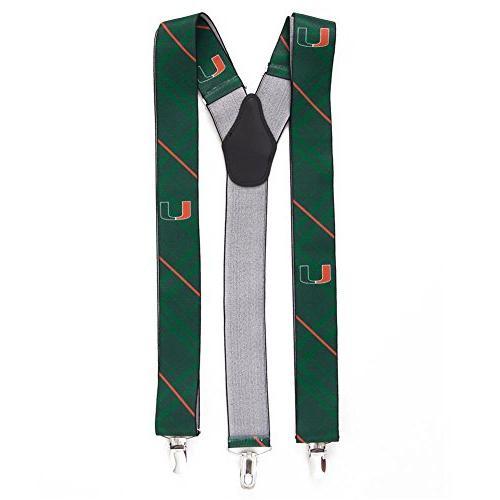 university miami hurricanes oxford suspenders