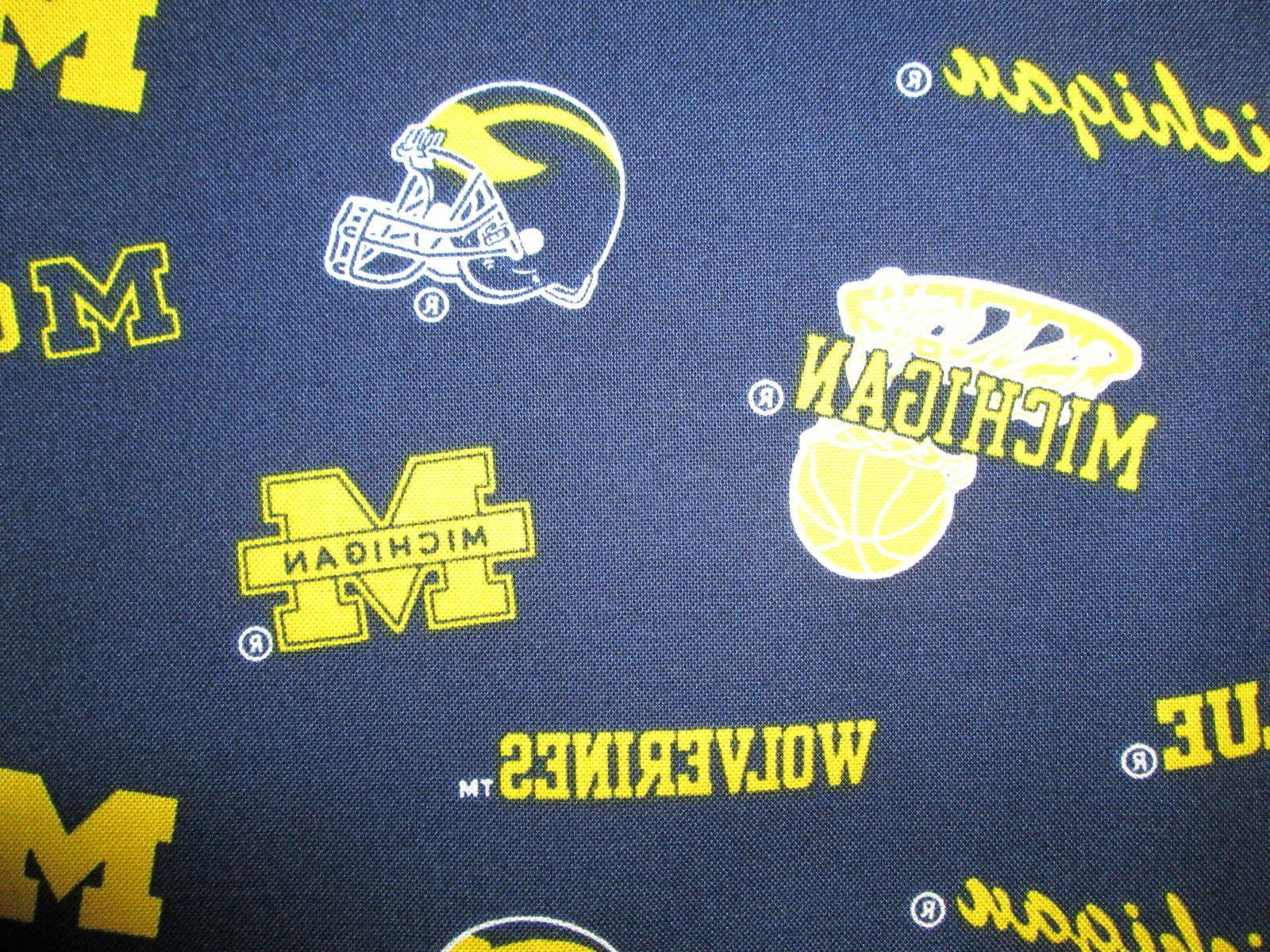 UNIVERSITY U of M OVERALL COTTON FABRIC FQ