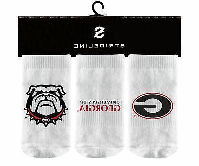 university of georgia infant white ankle socks