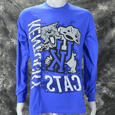 University Cats Blue LS Shirt wildcat