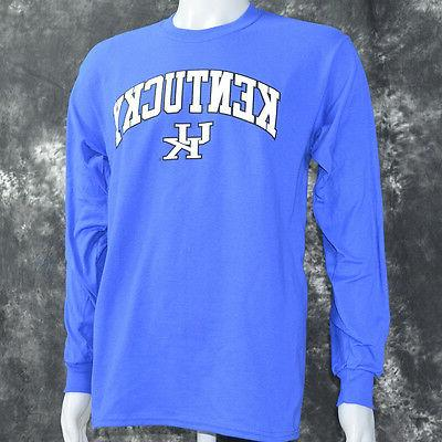 University of Kentucky on Blue Long Sleeve T