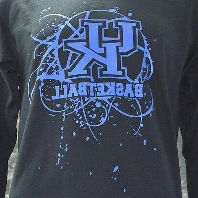 University Kentucky SPLATTER BALL LS Black Shirt apparel