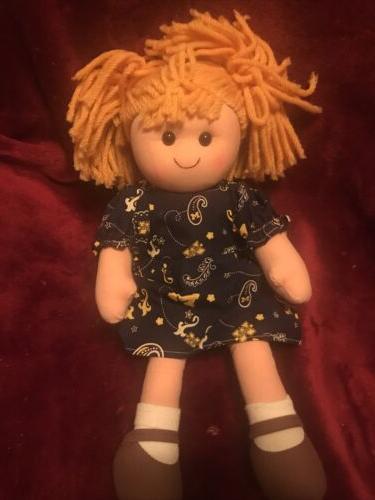 university of michigan cloth rag doll student