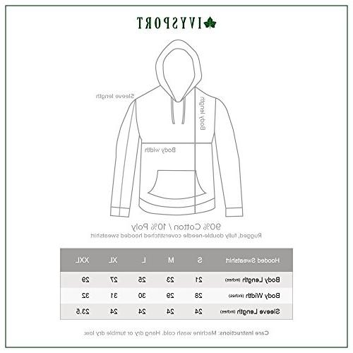 Ivysport of Hooded Sweatshirt, Crest, Small