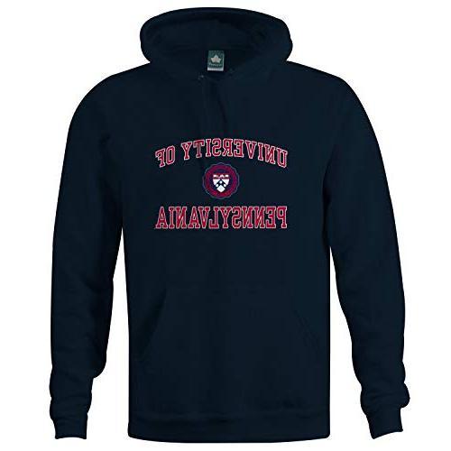 university of pennsylvania hooded sweatshirt crest navy