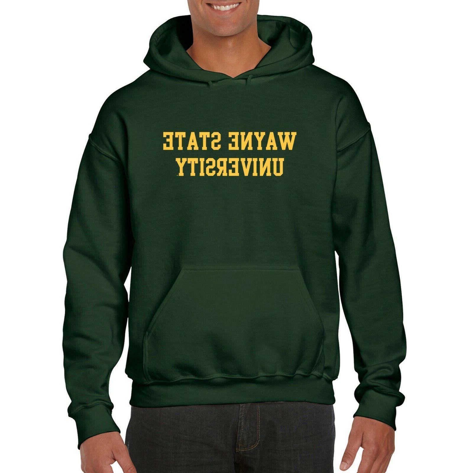Wayne State Basic Block Hooded Sweatshirt
