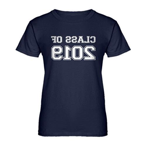 womens class of 2019 large navy blue